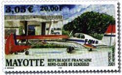 Aéro Club de Mayotte. La Poste France.