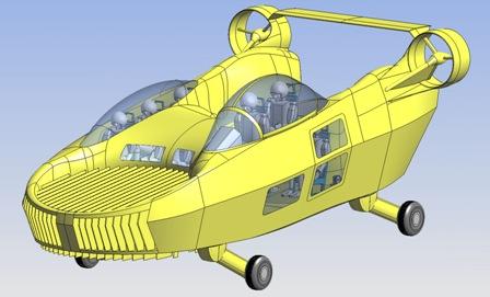 Urban Aeronautics Voiture Hélico