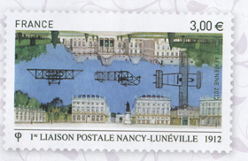 1ère liaison postale Nancy Lunéville
