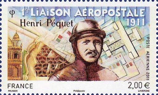1ère liaison Aéropostale  1911  en Inde (Henri Pequet)