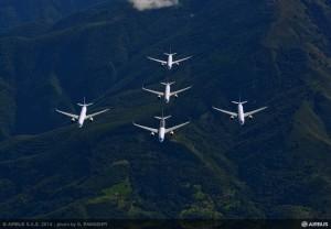 A350 FORMATION FLIGHT-IN FLIGHT-01_
