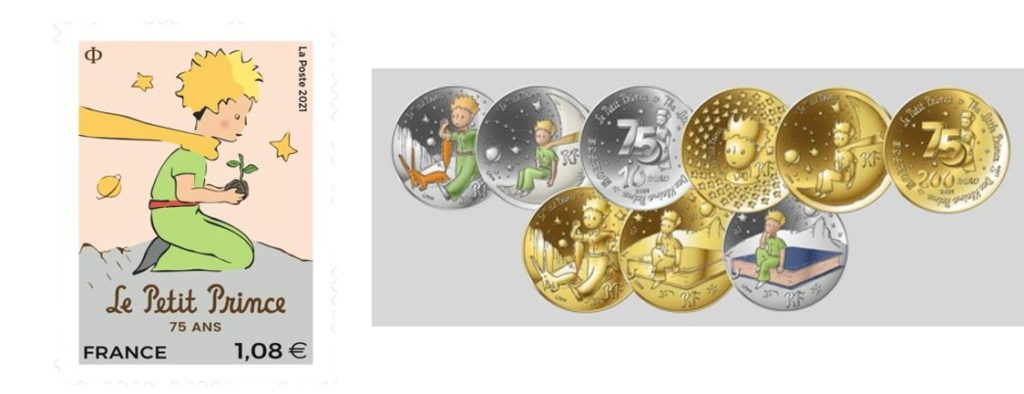 Le Petit Prince Timbre : la Poste Avril 2021. Valeur : 1€08
